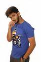Round Neck Chest Print T Shirt
