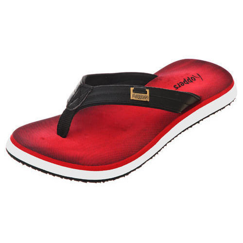 Mens Polo Red and White Casual Slippers