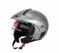 Wonder With Peak Silver Glossy Helmet