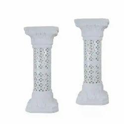 0824 White Plastic Pillar