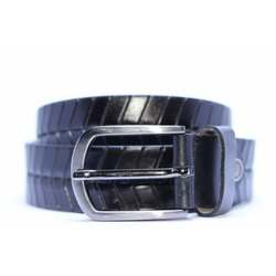 Mares Textured Balck Leather Belt