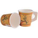 100% Food Grade Pe Coated Virgin Paper Printed Cup With Handle