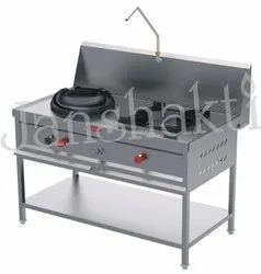 Chinese Two Burner Cooking Range
