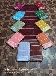 Multicolor Plain Dobby Stripe bath towel, 380 gms, Size: 30*60 Inches