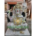 marble lotus ganesh moorti