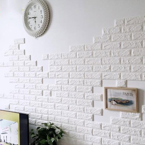 White Pe Foam Bricks Wall Sticker Size Dimension 77 70 Cm Rs 35 Square Feet Id 19517450233