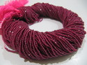 Natural Ruby Lab Created Round Beads