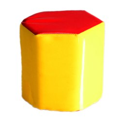 Yellow, Red Foam, Faux Leather Octagon Skill Toy