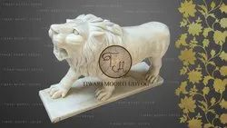 Marble Running Lion Statue