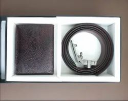 Male Leatherette Belt and Wallet Combo Set
