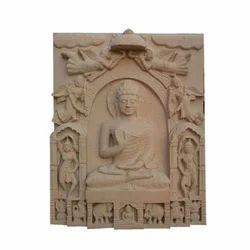 Religious Sandstone Buddha Statue