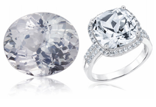 White Sapphire Safed Pukhraj   Brahma Gems   Wholesaler in
