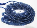 Superfine Natural Kyanite Rondelle Faceted Bead