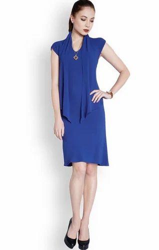 b41de25685e Women Dresses - Park Avenue Woman Blue Regular Fit Dress Retailer ...