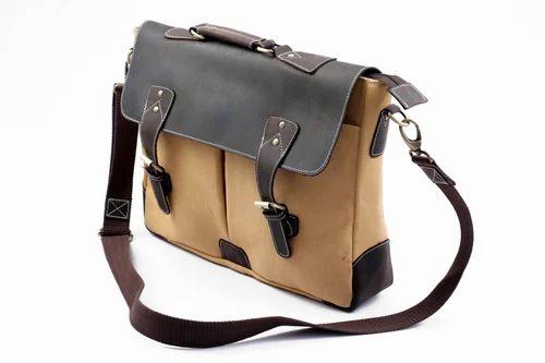 22bf3d76b8e3 Multi Canvas Leather Laptop Briefcase Messenger Bag