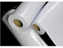 White Glossy Coated Paper Roll, GSM: 120 - 150