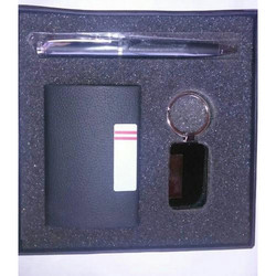 Card Holder with Pen and Key Chain