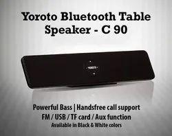 C90 - Yoroto Bluetooth Table Speaker Powerful Bass Handsfree Call Support Fm Usb Tf Card