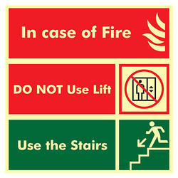Incase of Fire Safety Signage