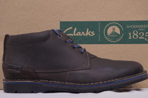 hot sales crazy price check out Clarks Edgewick Mid Grey Nubuck Boots