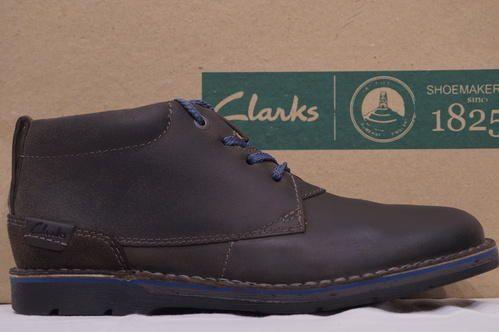 fb387a6b68c5 Leather Clarks Edgewick Mid Grey Nubuck Boots