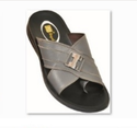 JST Royal Men's Grey And Black Color Slippers