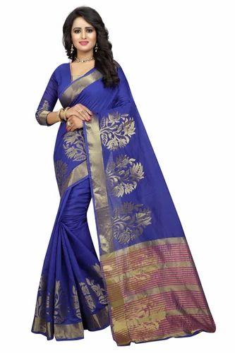 7c6514d3c9 Cotton Silk Saree With Blouse Piece, Rs 350 /piece, Aagam Fashion ...