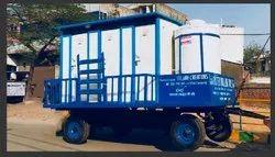 06 Seater PPGI Puff Mobile Toilet Van