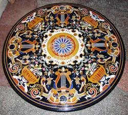 Stone and Marble Inlay Dining Table Top