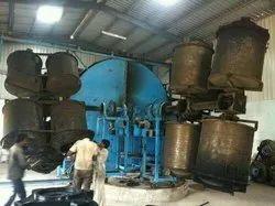Three Arm Bi Axial Rotational Moulding Machine.