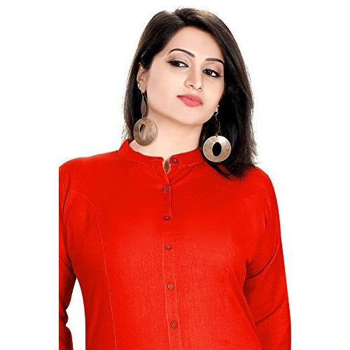 b1443d9f15 Red Cotton Stretchable Kurti, Size: S, M & L, Rs 385 /piece | ID ...