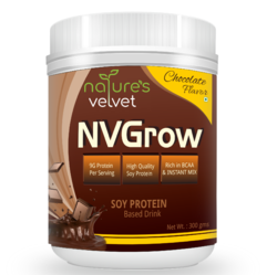 Natures Velvet Lifecare , NV Grow Soy Based Protein Drink 300g Choco