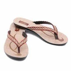 Women Maroon PVC Fashion Slippers