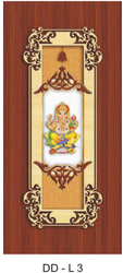 DD-L3 Wooden Lamination Pooja Doors for Home