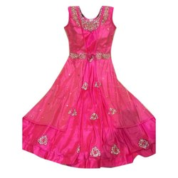 Silk Sleeveless Ladies Party Wear Anarkali Kurti, Wash Care: Dry clean