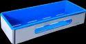 Ss 304 & Abs Plastic Rectangular Bathroom Steel Tray Shelf