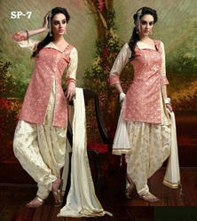 Designer Party Wear Side Cut Patiala Suit For Ladies