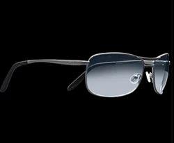 Silver Rectangular Sunglasses