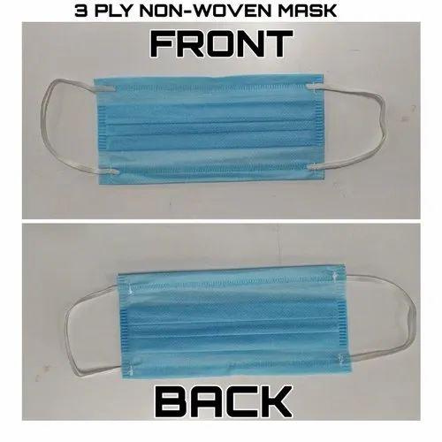 3 Ply PP Non Woven Face Mask
