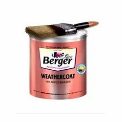 Berger Weather Coat Wall Paints, Packaging Type: Bucket