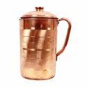 Copper Brown Jug Vessels, Capacity: 1.5-2 L