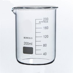 Cylindrical 200 ML Glass Beakers, For Laboratory