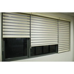 Fiber Plain Window Zebra Horizontal Blinds
