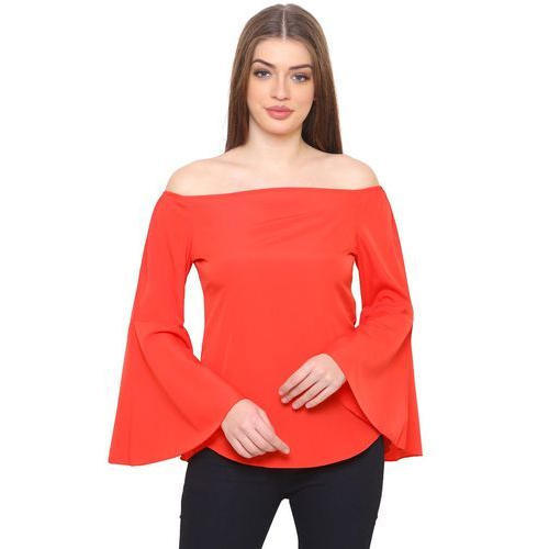 0c55fc85af35e0 Red Stylish Off Shoulder Top