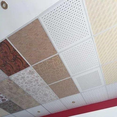 PVC Laminated Gypsum Ceiling Tiles at Rs 50/piece   PVC ...