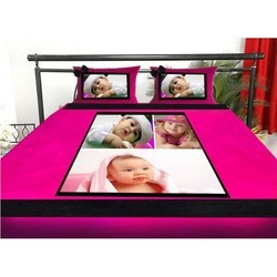 Personalized Bedsheets with Two Cushion