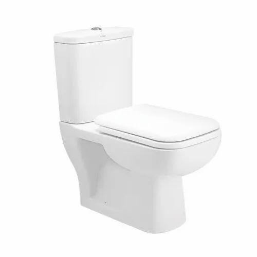 White Cera Two Piece Floor Mounted Commode, Size/Dimension: 660 x 350 x 710 mm