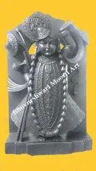 Black Marble Shrinath Ji Moorti