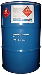 Isopropyl Alcohol (IPA), >99% Pure, 200 litres drum, used for lacquer formulations