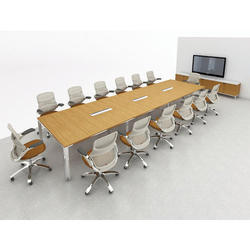 Pre-Laminated Particle Board 14 Seater Conference Table, Height: 30 Inch